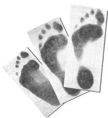 FOOT IMPRESSION PAPER